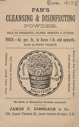 Advert for Pam's Cleansing and Disinfecting Powder